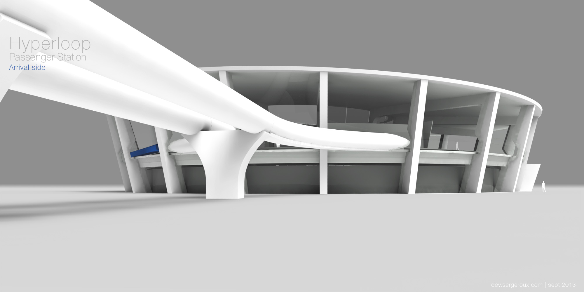 Hyperloop Station - Arrival side