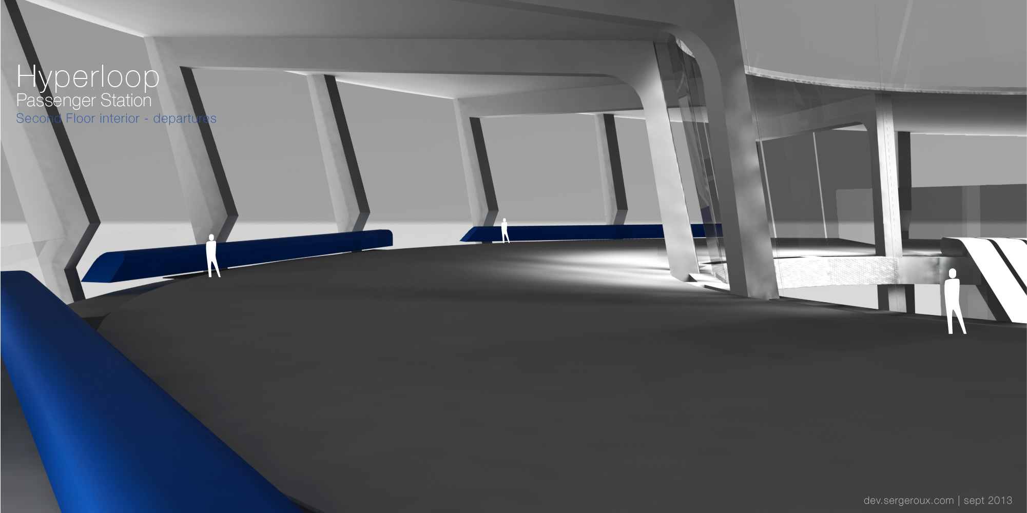 Hyperloop Station - Second floor interior